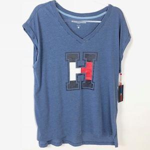 Tommy Hilfiger Sport Logo Blue Tshirt Size XL 087